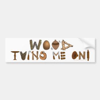 La madera me da vuelta en las herramientas y los p pegatina para auto