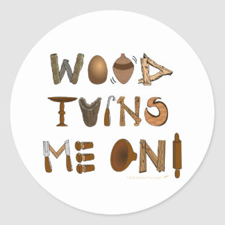 La madera me da vuelta en las herramientas y los pegatina redonda