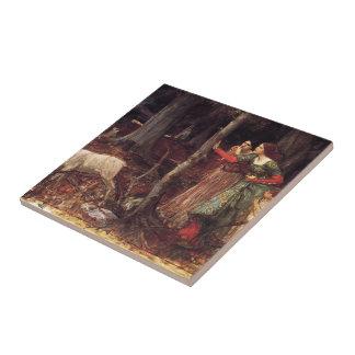 La madera mística de John William Waterhouse Azulejo Cerámica