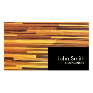 La madera moderna raya la tarjeta de visita del Bi