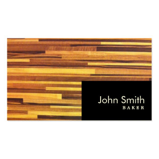 La madera moderna raya la tarjeta de visita del pa