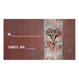 La madera pintada país cierra tarjetas del lugar tarjetas de visita