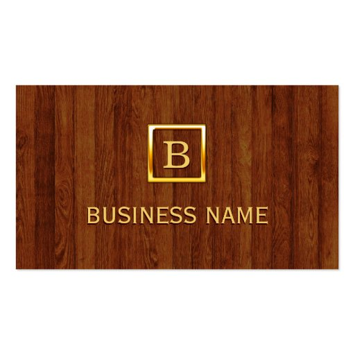 La madera real raya la tarjeta de visita del ciruj