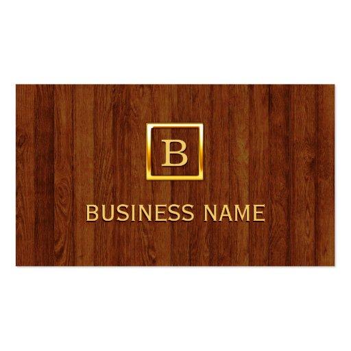 La madera real raya la tarjeta de visita del ingen