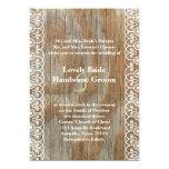 La madera suena la invitación lamentable del boda invitación 12,7 x 17,8 cm