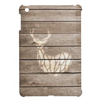 La madera urbana del arte de los ciervos del Grung iPad Mini Protectores