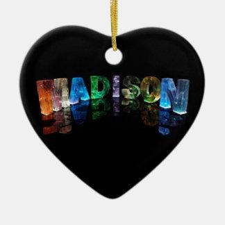 La Madison conocida en 3D se enciende (la Adorno De Cerámica En Forma De Corazón