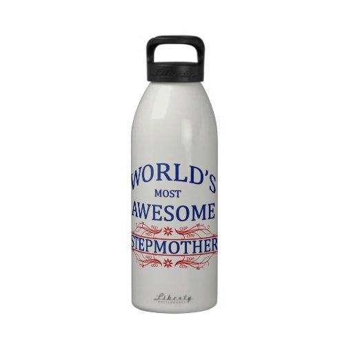 La madrastra más impresionante del mundo botella de agua reutilizable