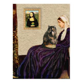 La madre de la marmota - gato persa del calicó tarjeta postal