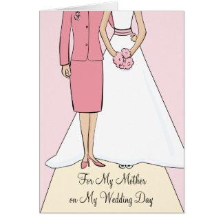 La madre de la novia le agradece cardar tarjeta de felicitación