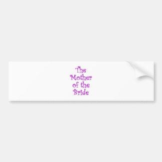 La madre de la novia pegatina para auto