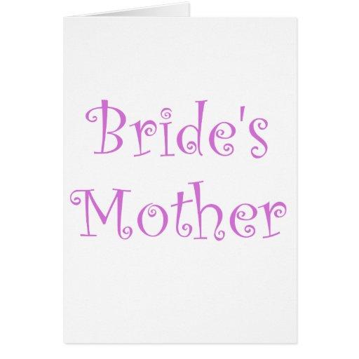 La madre de la novia tarjeta