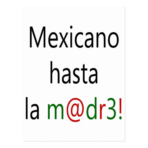 La Madre de Mexicano Hasta Postal