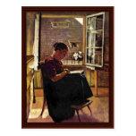 La madre del artista en el poco cuarto postales