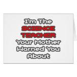 La madre del profesor de ciencias… le advirtió alr tarjeta