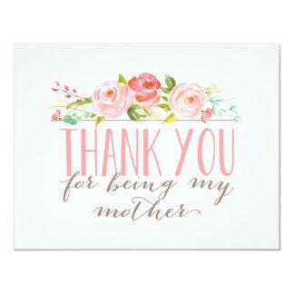 """La madre floral le agradece invitación 4.25"""" x 5.5"""""""