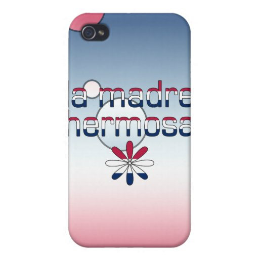 La Madre Hermosa America Flag Colors Pop Art Cases For iPhone 4