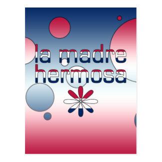 La Madre Hermosa America Flag Colors Pop Art Postcard
