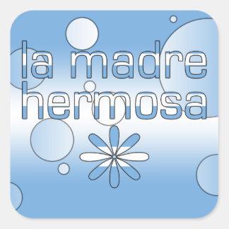 La Madre Hermosa Argentina Flag Colors Pop Art Square Sticker