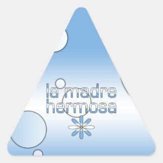La Madre Hermosa Argentina Flag Colors Pop Art Triangle Sticker