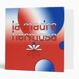 La Madre Hermosa Chile Flag Colors Pop Art Binder