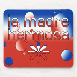 La Madre Hermosa Chile Flag Colors Pop Art Mouse Pad
