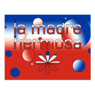 La Madre Hermosa Chile Flag Colors Pop Art Postcard