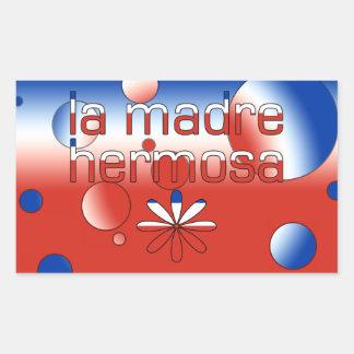 La Madre Hermosa Chile Flag Colors Pop Art Rectangular Sticker