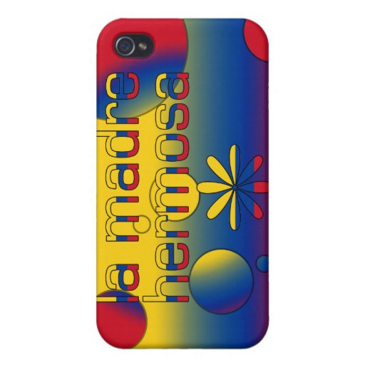 La Madre Hermosa Colombia Flag Colors Pop Art Cases For iPhone 4