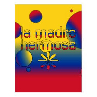 La Madre Hermosa Colombia Flag Colors Pop Art Postcard
