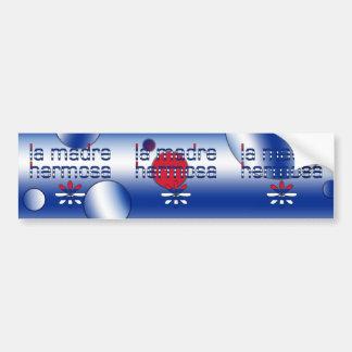 La Madre Hermosa Cuba Flag Colors Pop Art Bumper Sticker