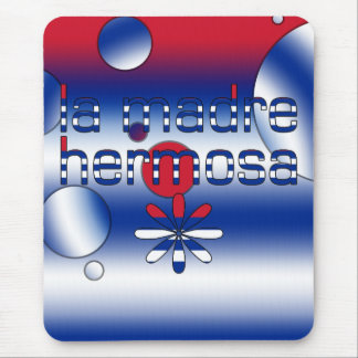 La Madre Hermosa Cuba Flag Colors Pop Art Mouse Pad