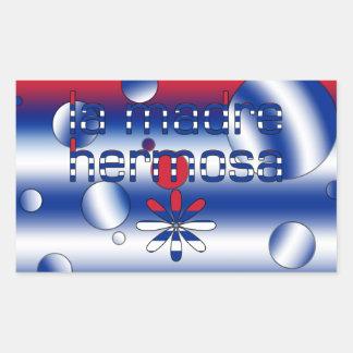 La Madre Hermosa Cuba Flag Colors Pop Art Rectangular Sticker