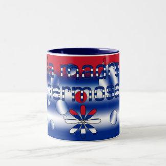 La Madre Hermosa Cuba Flag Colors Pop Art Two-Tone Coffee Mug