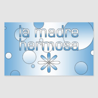 La Madre Hermosa Guatemala Flag Colors Pop Art Rectangular Sticker