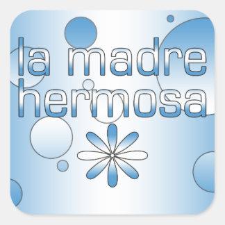 La Madre Hermosa Guatemala Flag Colors Pop Art Square Sticker
