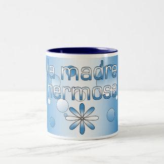 La Madre Hermosa Guatemala Flag Colors Pop Art Two-Tone Coffee Mug