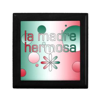 La Madre Hermosa Mexico Flag Colors Pop Art Keepsake Boxes