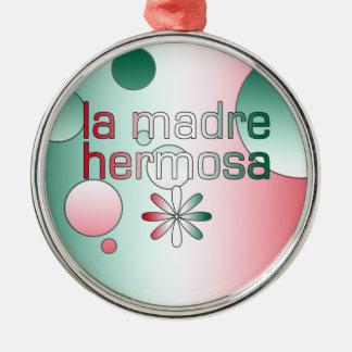 La Madre Hermosa Mexico Flag Colors Pop Art Christmas Tree Ornament