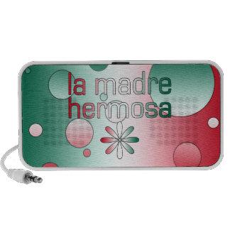 La Madre Hermosa Mexico Flag Colors Pop Art Mp3 Speaker