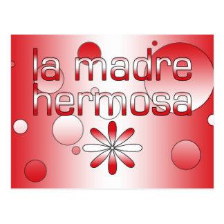 La Madre Hermosa Peru Flag Colors Pop Art Postcard