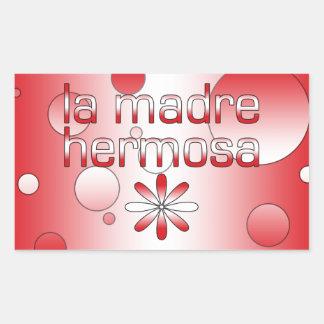 La Madre Hermosa Peru Flag Colors Pop Art Rectangular Sticker