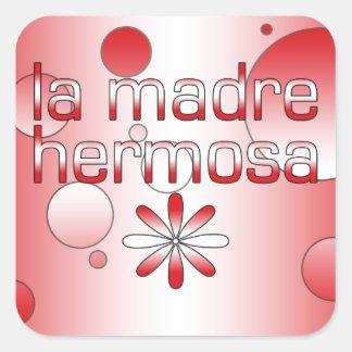 La Madre Hermosa Peru Flag Colors Pop Art Square Sticker