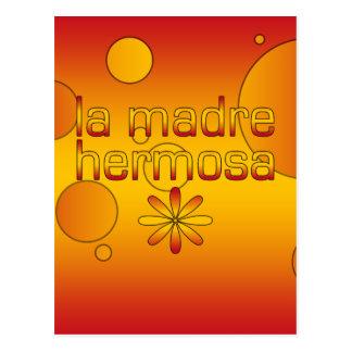 La Madre Hermosa Spain Flag Colors Pop Art Postcard