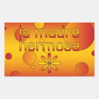 La Madre Hermosa Spain Flag Colors Pop Art Rectangular Sticker