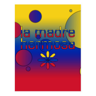 La Madre Hermosa Venezuela Flag Colors Pop Art Postcard