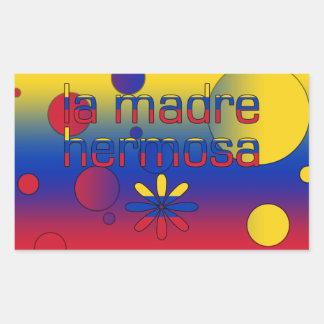 La Madre Hermosa Venezuela Flag Colors Pop Art Rectangular Sticker