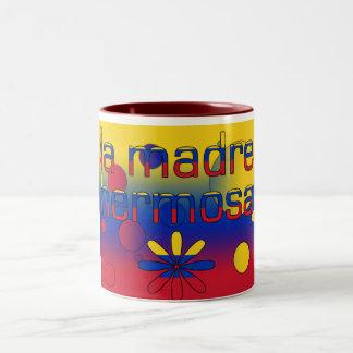 La Madre Hermosa Venezuela Flag Colors Pop Art Two-Tone Coffee Mug