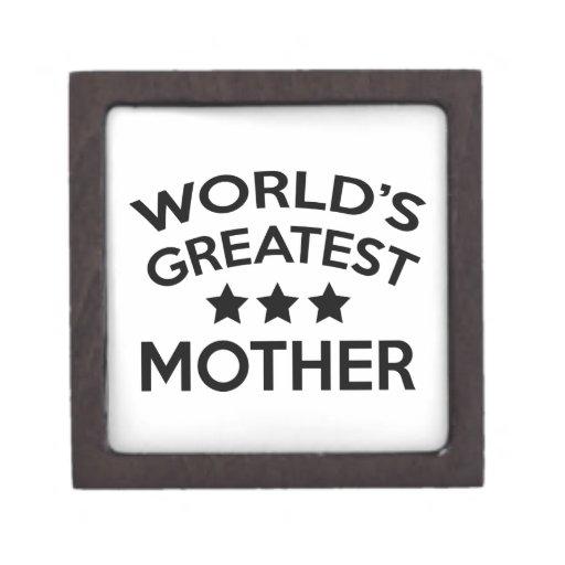 La madre más grande del mundo cajas de regalo de calidad