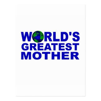 La madre más grande del mundo tarjetas postales